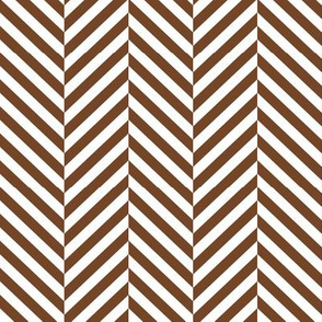 herringbone LG chocolate brown