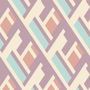 Bold plaid pattern with architectural motifs