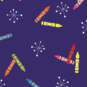 Colourful Crayons // Children's repeat pattern for Fabric or Gift wrap by Zoe Charlotte