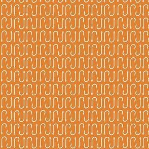 fish hooks// orange - SMALL Scale