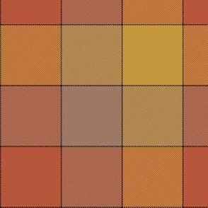 "Paneled tartan check - 7""- warm colors"