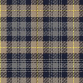 "Gordon Highlanders tartan, 7"" weathered"