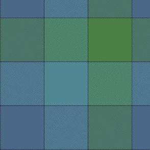 "Paneled tartan check - 7""- cool colors"