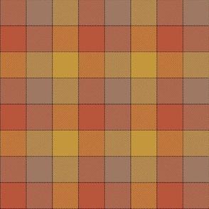 "Paneled tartan check - 3"" - warm colors"