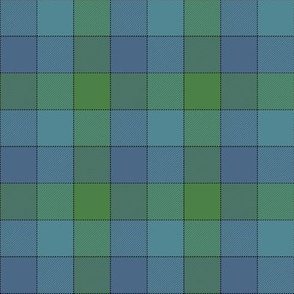 "Paneled tartan check - 3"" - cool colors"
