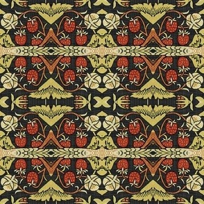 Reflections on William Morris ~ Strawberry Thief ~ Soft ~ I