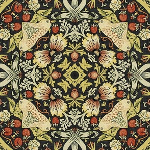 Reflections on William Morris ~ Strawberry Thief ~ Soft ~ XIV