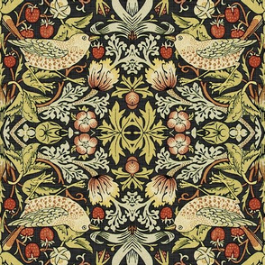 Reflections on William Morris ~ Strawberry Thief ~ Soft ~ XV