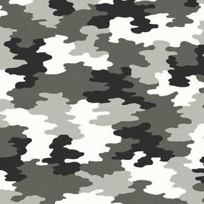 Camo Black/White/Grey Camoflauge