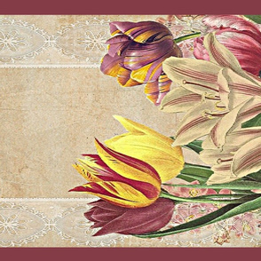 tulips, lilies and lace