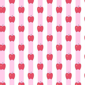 Pink Stripes and Apples