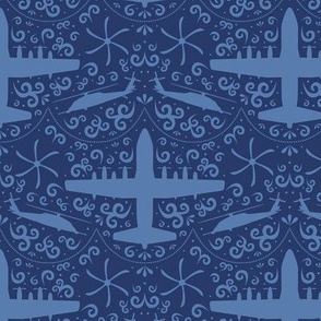 Search and Rescue Damask