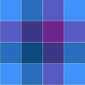 "paneled tartan - 6"" - bedtime blue"