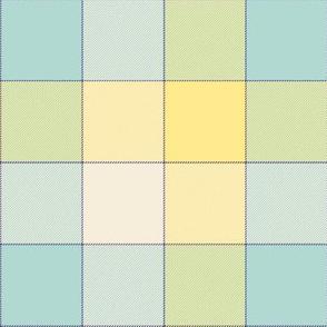 """paneled tartan - 6"""" - pastel spring quilt"""