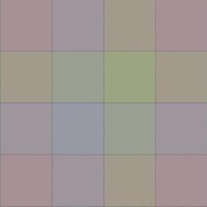 """paneled tartan - 6"""" - chalk rainbow"""
