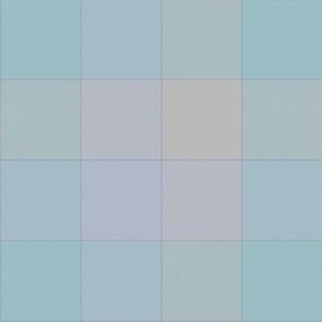"paneled tartan - 6"" - soft blues"
