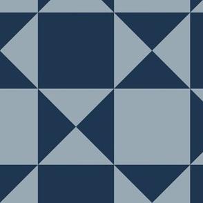 geo diamonds - faded blue