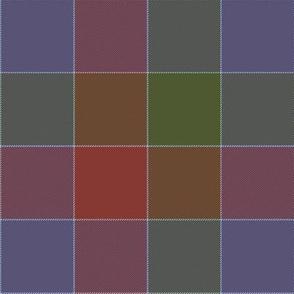 """paneled tartan - 6"""" - autumn colors"""