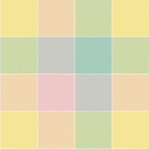 """paneled tartan - 6"""" - spring pastels"""