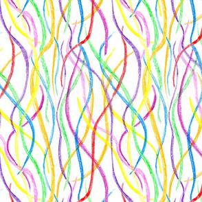scribbling crayon lines