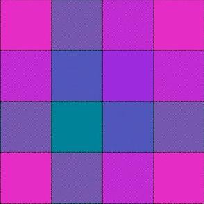"""paneled tartan - 6"""" - mad purple"""