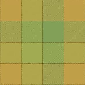 "paneled tartan - 6"" - copper flame"