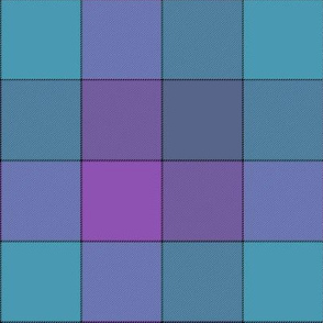"paneled tartan - 6"" - jazz blues"