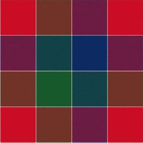 "paneled tartan - 6"" - winter berry"