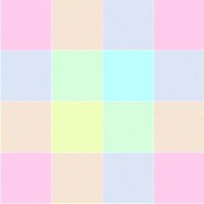 """paneled tartan - 6"""" - pastel rainbow"""