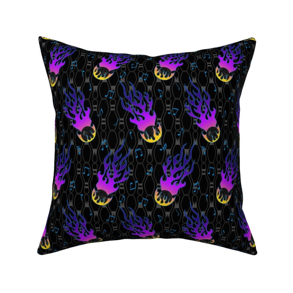 Catalan Throw Pillow featuring Craftsmen Square Roses White Purple by wickedrefined