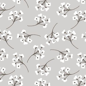 cottony forest heather blooms gray neutral flower design