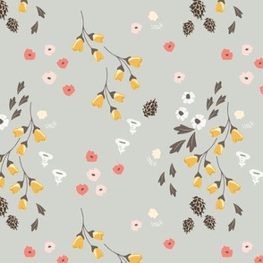 rambling dancing pine florals pink yellow flowers daisy nursery groundcover day design