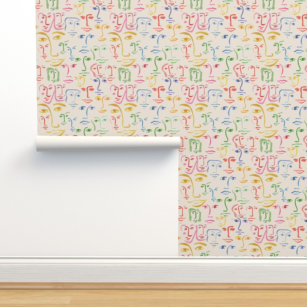 Isobar Durable Wallpaper featuring worldly faces by cinneworthington