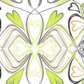 Project 28 |   Floral | Lime Green