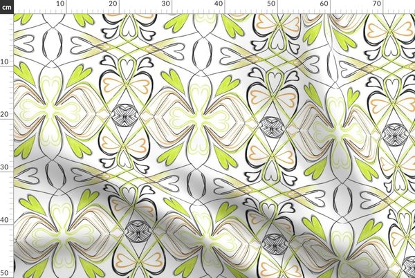 Fabric By The Yard Project 28 Floral Lime Green Wallpaper