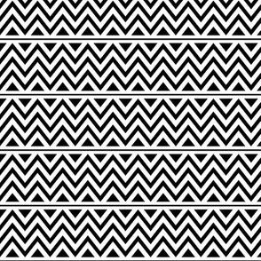 black + white chevron fun