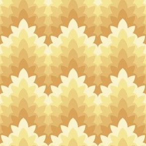 leafy zigzag : soft spring gold