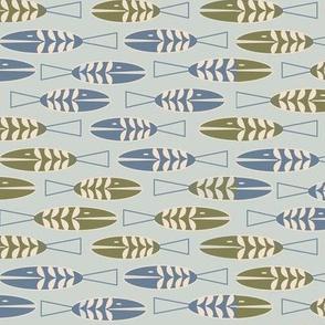 pastel geometric skinny fish