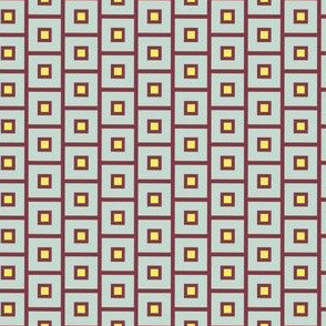 16-15R Maroon Squares with Lemon center_Miss Chiff Designs