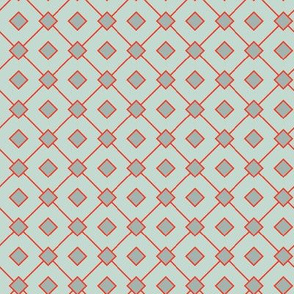 16-15Q Teal Red Seafoam Sqaures_Miss Chiff Designs