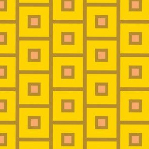 Gold squares on yellow_Miss Chiff Designs