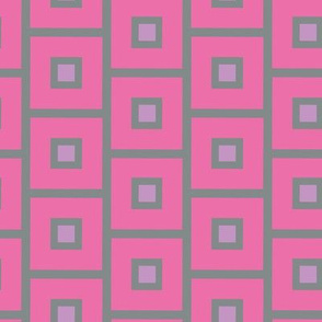 16-15P Pink Squares with Periwinkle Center_Miss Chiff Designs