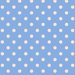 Polka Dot Peach and Blue