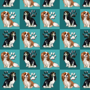 Cavalier Spaniels squares