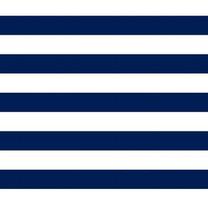 Big Navy Horizontal Stripes