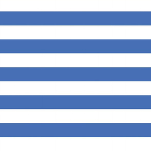 Big Blue Horizontal Stripes