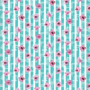 16-08d Cherry Blossom on Blue Hatched background_Miss Chiff Designs