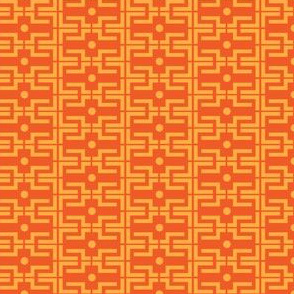 Carrot Orange geo on tangerine_Miss Chiff Designs