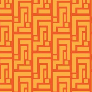 Carrot Orange geometric on tangerine_Miss Chiff Designs