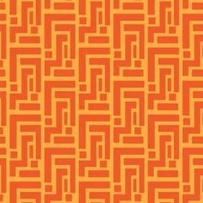 Tangerine geometric on carrot orange vegetable_Miss Chiff Designs